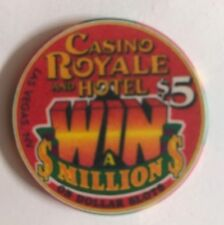 Casino Royale Las Vegas $5 Chip Win A Million On Slots Old Obs
