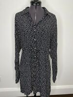 Tigerlily Black & White Polka Dot Shirt Dress Size 8 EUC Beach Casual