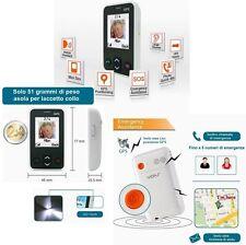 TELEFONO CELLULARE PER ANZIANI E BAMBINI GSM SALVAVITA SALVALAVITA SOS GPS