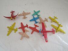 VINTAGE LOT HARD PLASTIC TOYS PLANE AIRPLANES SMALL
