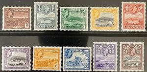 ANTIGUA  136 - 145  Beautiful  Mint  Set  QEII  AG