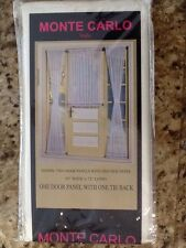 United Curtain Monte Carlo Sheer Door Curtain Panel, 59 by 72 Inch, Egg, New