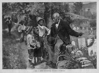 DECORATION DAY AT THE CEMETERY NEGRO CHILDREN RECEIVE LESSON IN HISTORY NEGROES