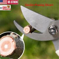 Bypass Pruning Shears Outdoor Garden Snips Cutter Gardening Cutting Tree Stem US