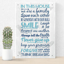 Kitchen Inspirational Plaques Vintage Wall Sign Shabby Chic Birthday House Gifts