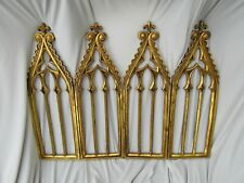 Ornate Gothic Gold Leaf Resin Arches Folding Tabletop Screen