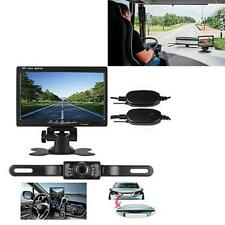 """Wireless Auto Car Rear View License Plate Camera IR Night Vision +7"""" LCD Monitor"""