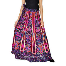 Indian Women Ethnic Floral Rapron Printed Cotton Long Skirt Wrap Around Skirt-1