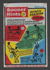 Anglo-American Gum Bell Boy wax wrapper Soccer Hints #69 - Fitness Training