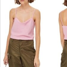 NWOT Top Shop Pink Camisole Blouse Cowl Neck