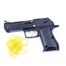 Black Rubber Band Gun Foldable Metal Exquisite Desert Eagle Pistol Shape