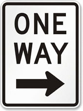 "New listing One Way Left Arrow Sign, Engineer Grade 12"" x 18"""