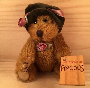 "PRECIOUS THE BEAR ""Brown"" Beautiful Little Teddy Bear Soft Toy Stuffed Friend"