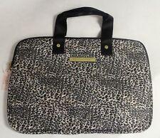 Victoria's Secret Leopard Laptop iPad Nook Netbook Tablet Padded Case Bag RARE