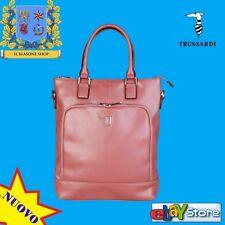 TRUSSARDI JEANS Borsa donna comoda trendy tracolla foderata fashion Rosa