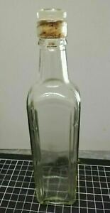Vintage Glass Bottle Decanter with Cork Glass Stopper