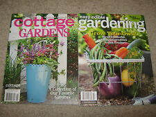 LOT 2 GARDENING Easy Edible Grow Your Own COTTAGE GARDENS Journal How Plant 2014