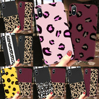 Fashion Colorful Leopard Print Phone Soft Case Cover For iPhone XS Max XR 8 6 5S