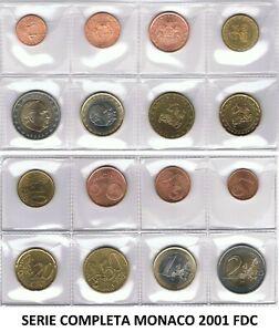 SERIE COMPLETA EURO MONACO 2001