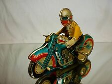 TIN TOY BLECH - FRICTION CHINA MS706 MOTORCYCLE + SIDECAR - GOOD CONDITION