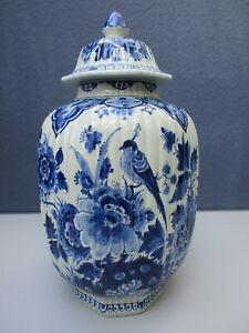 """Traumhafte, große Delft Vase-Deckelvase-""""De Porceleyne Fles""""-Porzellan"""