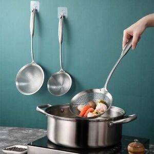 304 Stainless Steel Skimmer Strainer Colander Mesh Fryer Frying Scoop Noodles H