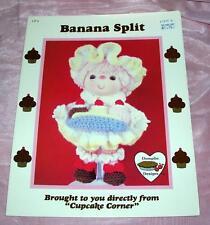 Vtg 1985 Crochet Doll Pattern Dumplin Designs Cupcake Corner - Banana Split