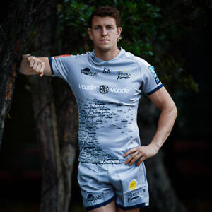 Samurai M Sale Sharks Away Rugby Union Shirt Men's 2020/21 Season Pro Fit