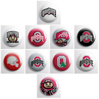 OHIO STATE BUCKEYES - college athletic pinback buttons - sports team pin badges