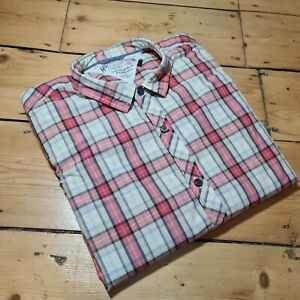 TOMMY HILFIGER DENIM RED CHECK WESTERN STYLE LONG SLEEVE SHIRT L LARGE