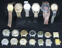 (20) Mens Watch Lot for Parts/Repair - Timex - Seiko - Vintage - Lot #2