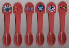 KRAFT Jello Spoon Set of Canadian NHL Teams (6) In Cello Packs