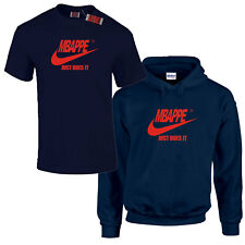 Mbappe or any Surname Spoof Paris France Saint Navy Blue Hoodie or T-Shirt