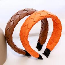 Fashion Hair Accessories Women Turban Hair Hoop Leather Headband Weave Hairband