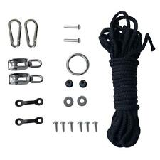 Kayak Boat Canoe Anchor Trolley Kit Rope Pulley Screws Hardware Accessories