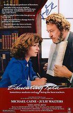 Michael Caine Signed Educating Rita 11x17 Movie Poster COA