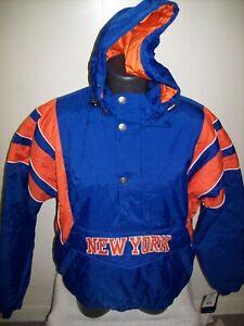 NEW YORK KNICKS Starter Hooded Half Zip Pullover Jacket S M L XL 2X Team Color