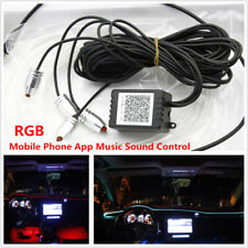In-Car RGB LED Ambient Light Dashboard Decorative Mobile phone Music Control Kit