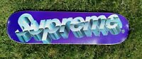 Supreme Chrome Logo Purple Skateboard Deck - SS2020 - NEW - 8.125""