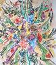 """Raoul SCHULTZ """"Fiori"""" , 1960 pastelli grassi su cartoncino intelato"""