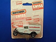 MATCHBOX MB38 SWISS ISSUE FORD MODEL A VAN - JACKY MAEDER