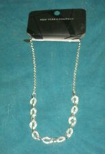 Silver Neckless - 18 Inches Long New York & Company Fashion Jewelry