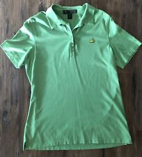 The Masters Golf Shirt Size Medium  Womens Magnolia Lane Collection Polo Green