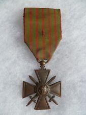 MEDAILLE CROIX DE GUERRE Bronze VERDUN 1914-1917 ORIGINAL FRENCH MEDAL WWI