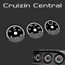 Plastic BLACK DIALS Holden Commodore VE E3 style triple binnacle gauge
