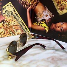 vintage GIANNI VERSACE brown mod S64 col 030 sunglasses as seen on Miley Cyrus
