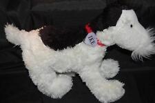 "Ike Black White Terrier Dog Dear Mrs LaRue M Teague  Kohls Plush Stuffed 15"""