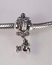 New, rare sterling silver authentic Chamilia Mrs. Pott & Chip DIS-104 retired