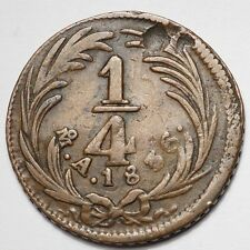 MEXIQUE : 1/4 REAL 1836 MEXICO