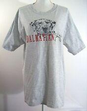 Dalmatian Dog Lover Gray Tee Shirt Large